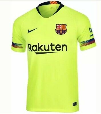 9cf734e52b7 Nike FC Barcelona 2018 19 Away Stadium Jersey 919236-703 Youth Large Volt   75