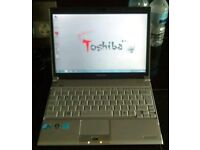 Toshiba notebook. Webcam, 2gb ram, Windows 7 and office