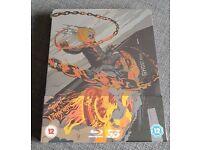 Ghost Rider Spirit Of Vengeance Steelbook 3D Blu Ray NEW