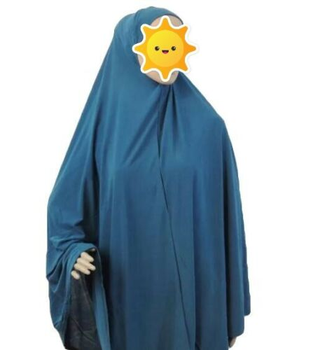 Turquoise 2 Piece Muslim Women Prayer Isdal Outfit Cover Islamic Clothig Spandex