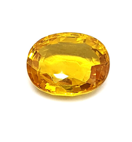 100% Natural 3.3Ct Certified Clean Transparent Yellow Sapphire Premium Quality