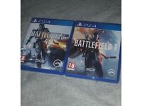 Battlefield 1 and 4