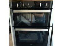 CDA DC740SS Electric Built-under Fan Double Oven With Touch Control Timer - Stainless Steel
