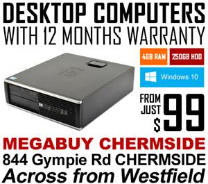 DESKTOP COMPUTERS WITH 12-MONTHS WARRANTY - JUST $99