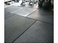 Rubber Gym Flooring Mats - 1m X 1m x 15mm
