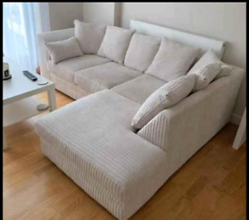 Cord Fabric Sofa 🛋️ Elegant and Comfy 🎄 Sale 📞 Now 🚛 Available