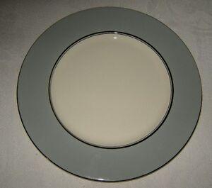 Castleton USA Lyric Gray with Platinum Trim Two Dinner Plates