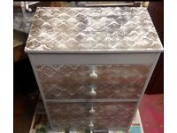 Upcycled chest of drawers/dressing table*grey