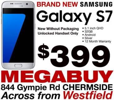 BRAND NEW Samsung Galaxy S7 32GB Silver - $399