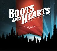 Boots & Hearts- 2 tickets plus 1 camp site