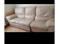 Real leather recliner sofa