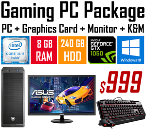 GAMING PC PACKAGE - i5, 8G RAM, 240G SSD, GTX1050, WIN 10, WTY Chermside Brisbane North East Preview