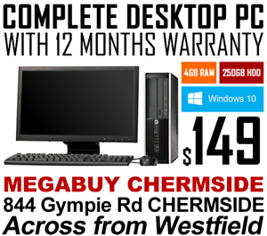 COMPLETE DESKTOP COMPUTERS WITH 12-MONTHS WTY - FROM JUST $149