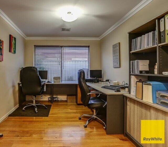 Home Office Furniture: Large Grey Corner Desk And Bookcase