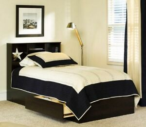 Bed Frame With Storage Twin Size Platform Beds w/ Headboard Drawers Under