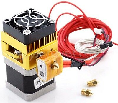 Latest MK8 3D Printer Thermistor Extruder Print Head with 0.2/ 0.3/ 0.4mm Nozzle