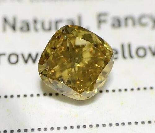 .53 VS2 Cushion Fancy DEEP Yellow GIA Certified Loose Diamond Engagement Ring