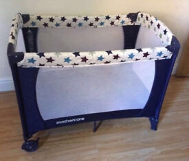 Mothercare Classic Travel Cot. blue in excellent condition