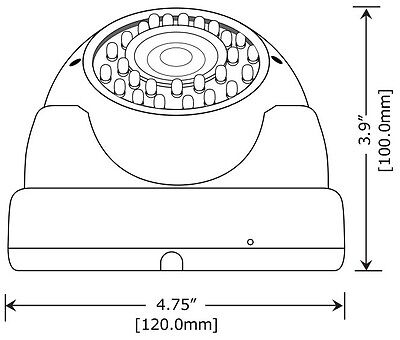 HD-TVI 2.6MP 1080P Surveillance Security Camera 2.8~12mm Varifocal 36IR LEDs 2p