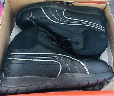 Puma Safety Black Mens Leather Daytona Mid SD WRU ST LaceUp Work Boots