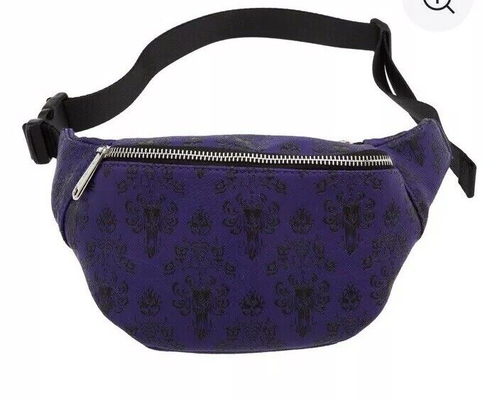Disney Parks Haunted Mansion Purple Loungefly Fanny Pack Waist Bag - NEW