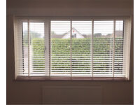 White Wood Venetian Blinds 5cm Slats Only 3 Months Old EXCELLENT CONDITION