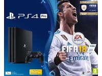 Sony PlayStation 4 Pro with FIFA 18 + extra Dual Shock 4 controller