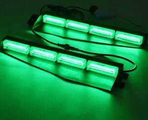 GREEN LED COB VISOR DASH LIGHT FIREFIGHTER LIGHTBAR