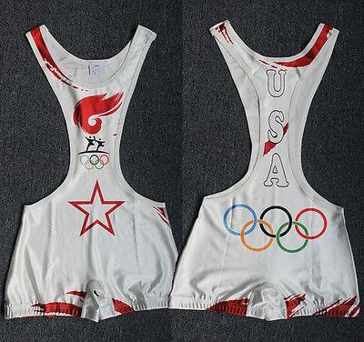 Custom Mens Wrestling Trunk Save Olympic  Wrestling Singlet Gym Outfit