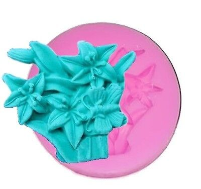 Lily Flowers in Basket Silicone Mold for Fondant Gum Paste Chocolate Crafts ()