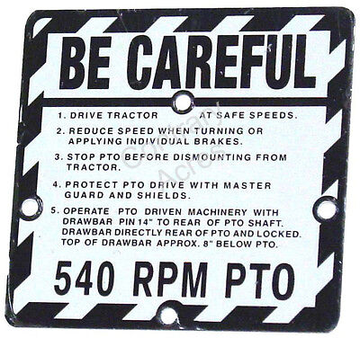 John Deere 530 630 730 830 Be Careful Plate