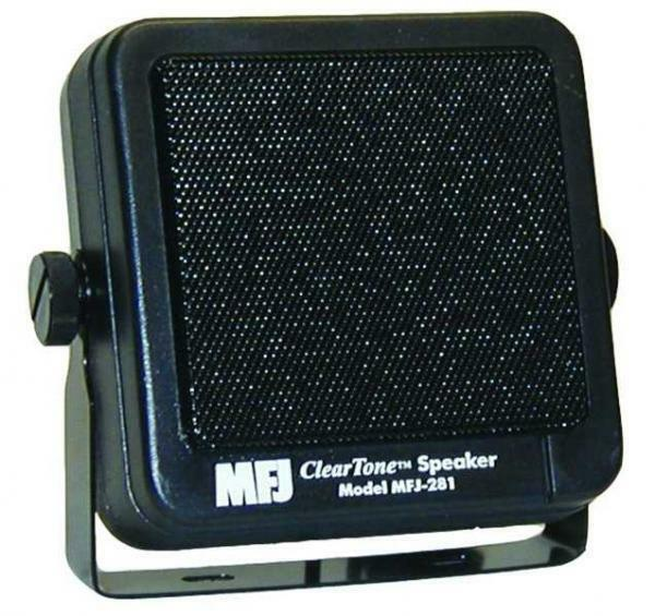 MFJ-281 Clear Tone Speaker for Mobile Radios with Mounting Bracket and 6