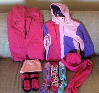 Kids Girls Size 8/10 Ski Clothes