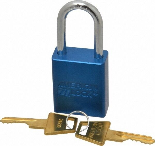 """American Lock Keyed Different Lockout Padlock 1-1/2"""" Shackle Clearance, 1/4"""" ..."""