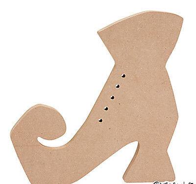 FE-OTC Halloween Craft Supply - Witch's Boot Shoe Wood DIY 1 pc. #13658693 - Diy Halloween Shoes
