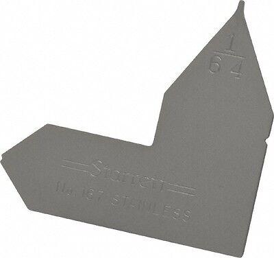 Starrett 164 Inch Radius Gage Satin Chrome Finish Stainless Steel