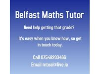 Maths Tutor, Belfast - post primary up to GCSE level £25/hour