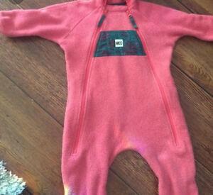 MEC fleece bunting suit. 6-12 months (fits on large side) EUC