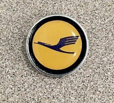 Lufthansa airlines Logo Pin Badge .Check My Store List.✈️✈️✈️✈️✈️✈️