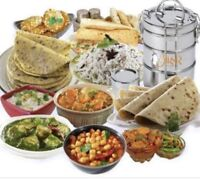 Freshly cooked home made food tiffin service