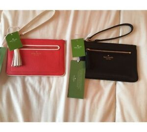 New! Pair of Kate Spade Pebbled Leather Wristlets With Tags