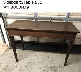 Sideboard. Table