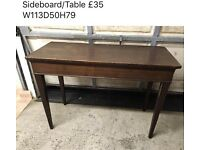 Sideboard. Table