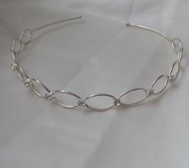 Silvertone tiara £5 new condition as never used