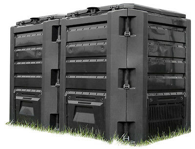 Schnellkomposter 800 Liter Gartenkomposter Thermokomposter Kunststoff