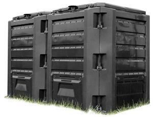Schnellkomposter 800 Liter Gartenkomposter Thermokomposter Kunststoff Komposter
