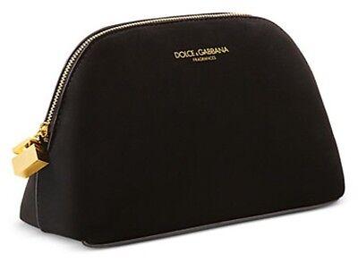 Dolce & Gabbana beauty black velvet MakeUp cosmetic Pouch Makeup Bag clutch case