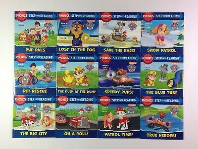 Paw Patrol Phonics Childrens Step Reading Books Beginning Readers Lot 12