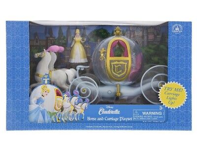 Disney Parks Cinderella Horse & Carriage Light Up Play Set Outfit Changing - Cinderella Carriage Toy