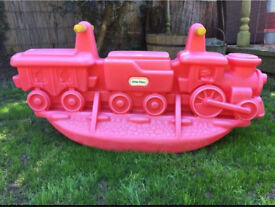 Little tikes red train see-saw